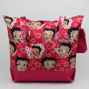 Betty Boop Womens Heart & Kisses Fabric Tote